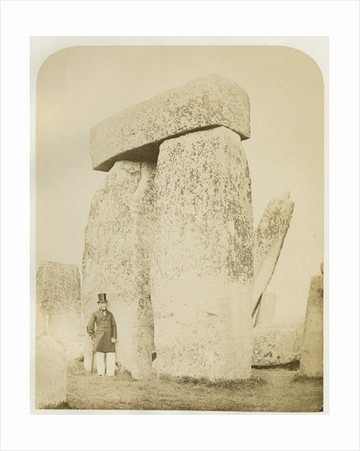 'Stonehenge. Trilithon (B) on the left of the altar stone' by Henry James
