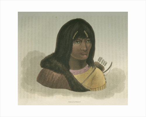 'Portrait of a Stone Indian' by Edward Francis Finden