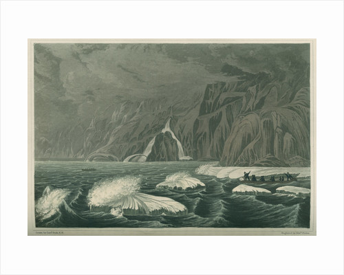 'Expedition doubling Cape Barrow, July 25 1821' by Edward Francis Finden