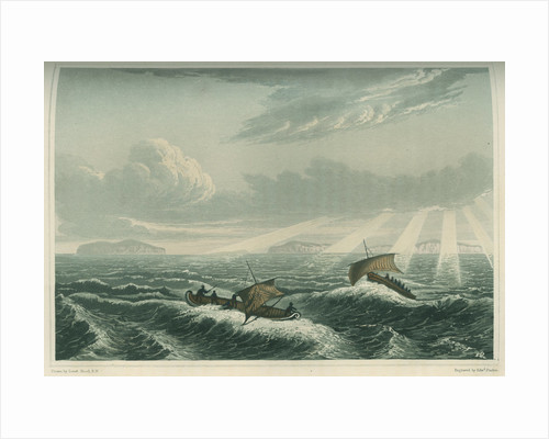 'Canoe broaching to in a gale of wind at sunrise, Aug. 23rd 1821' by Edward Francis Finden