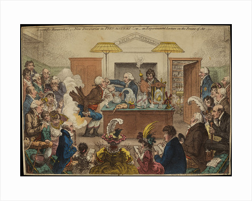 'Scientific Researches!' [Royal Institution lecture] by James Gillray