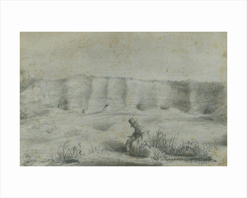 Geologist in a chalk pit by George John Rose