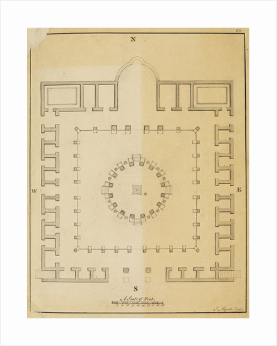 Plan of the Temple of Serapis at Pozzuoli by James Mynde