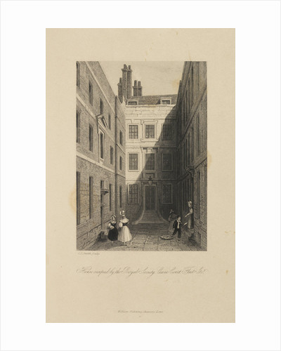 The Royal Society's house at Crane Court by Charles John Smith