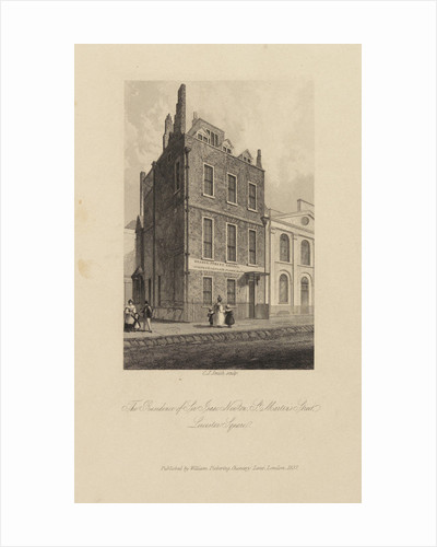 Sir Isaac Newton's house in Leicester Square by Charles John Smith