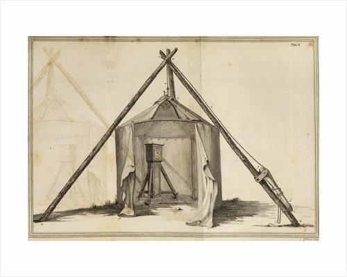 Shelton regulator in canvas observatory by James Basire the elder