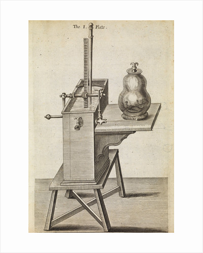 Boyle's second air pump by Anonymous