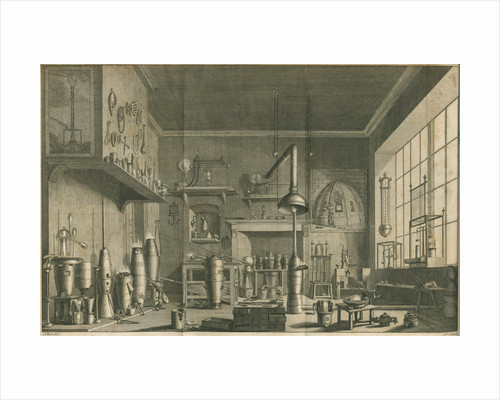 A chemistry laboratory by Pierre-Charles Canot
