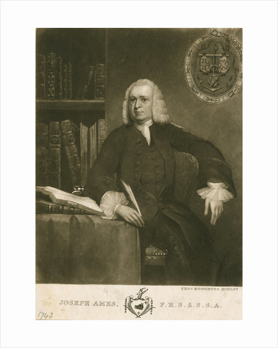 Portrait of Joseph Ames (1689-1759) by Thomas Hodgetts