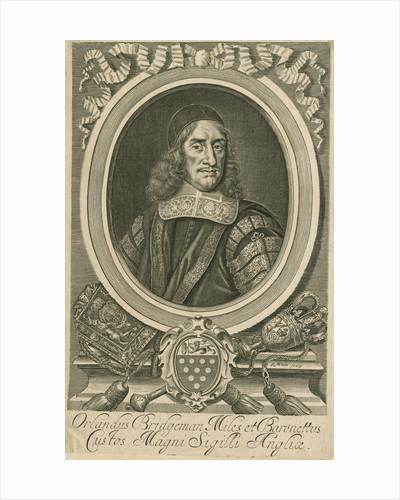 Portrait of Orlando Bridgeman (1606-1674) by Robert White