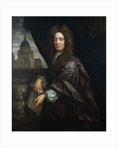 Portrait of Christopher Wren (1632-1723) by John Closterman