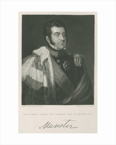 Portrait of George Augustus Frederick FitzClarence, 1st Earl of Munster (1794-1842) by W H Cook