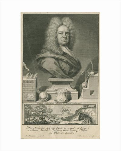 Portrait of Ambrose Godfrey (1680-1756) by George Vertue