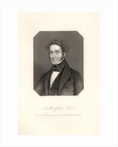 Portrait of James William Gilbart (1794-1863) by Henry Adlard