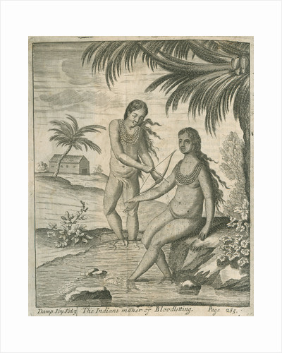 Blood letting practised by the Cuna Indians of Panama, observed by Lionel Wafer by John Savage