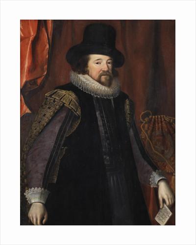 Portrait of Francis Bacon (1561-1626) by Studio of Paulus van Somer I