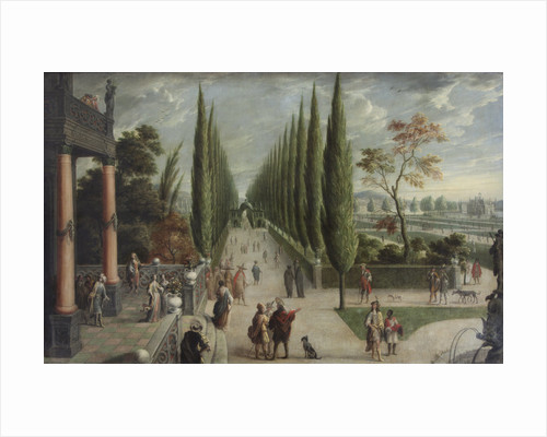 Italian-style garden landscape by Anonymous