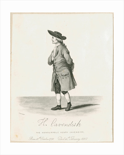 Portrait of Henry Cavendish (1731-1810) by Charles Rosenberg I