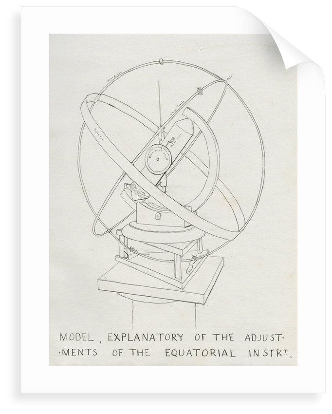 Model intended to show error adjustments in zodiacal light observation by Charles Piazzi Smyth
