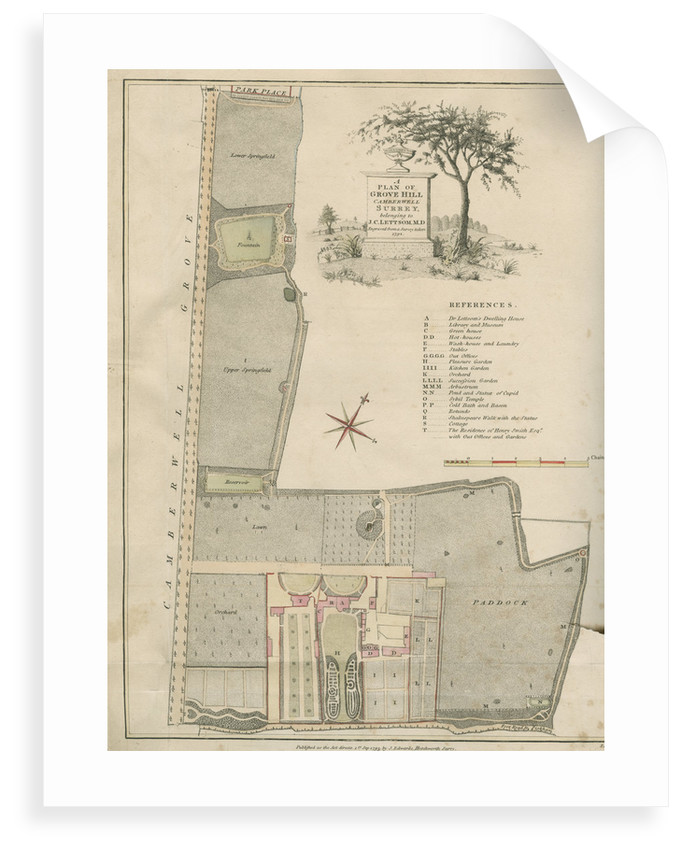 'A plan of Grove Hill, Camberwell, Surrey' by James Edwards