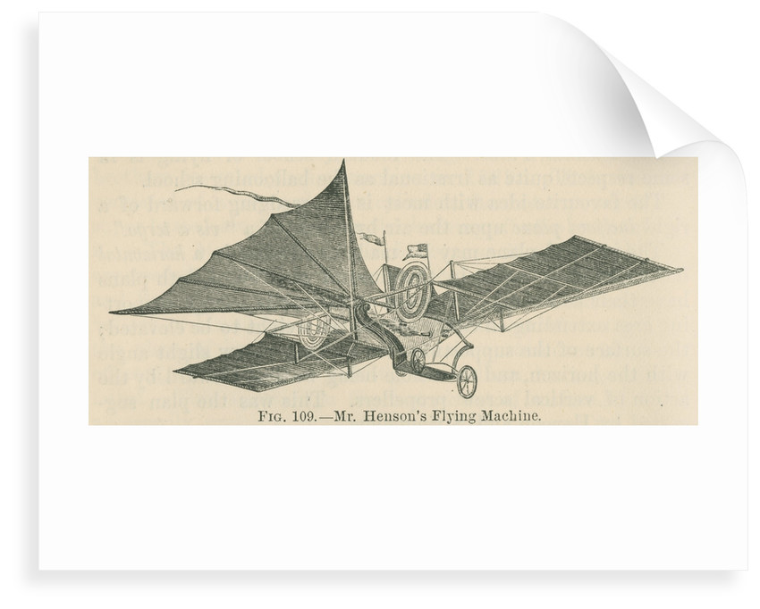 'Mr Henson's flying machine' by William Ballingall