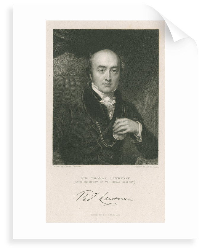 Portrait of Thomas Lawrence (1769-1830) by James Thomson