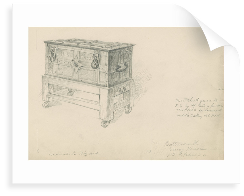 The Royal Society's iron chest by unknown