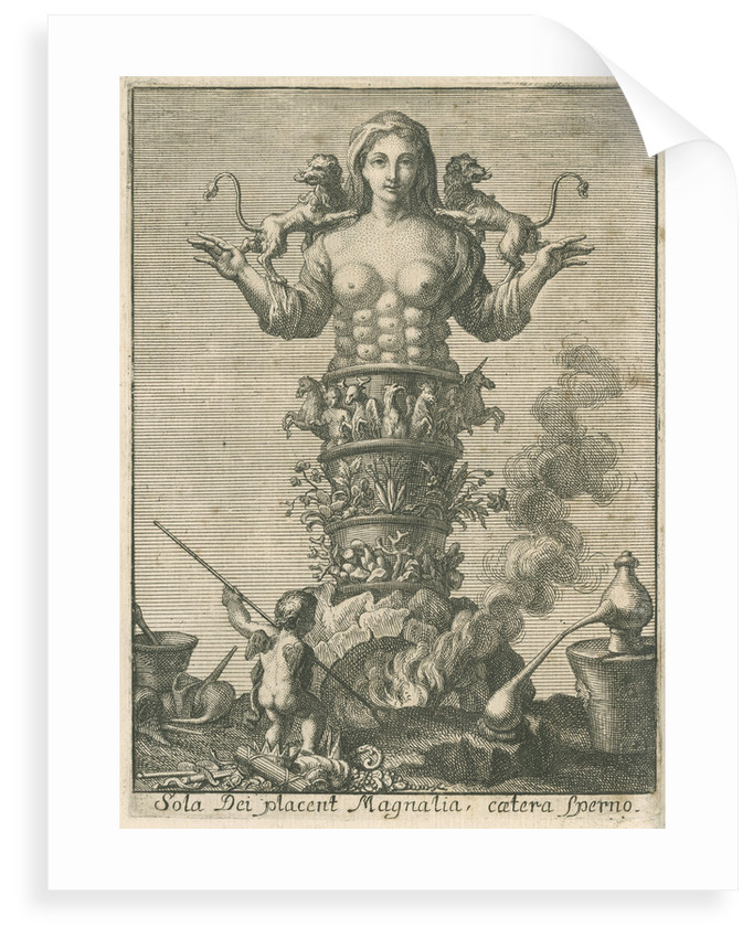 An allegory of chemistry and nature by unknown