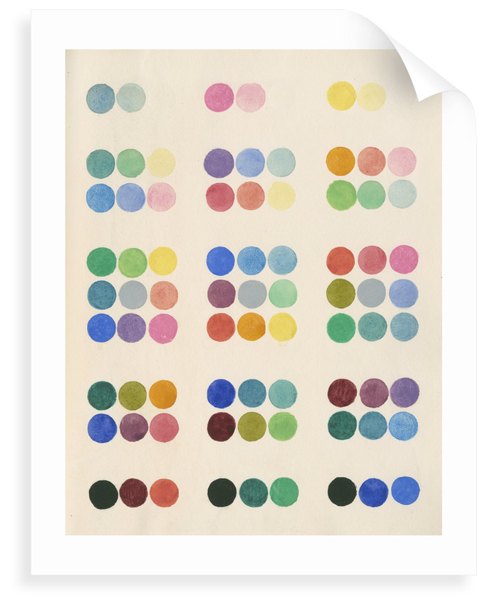 Colour spot chart by Anonymous