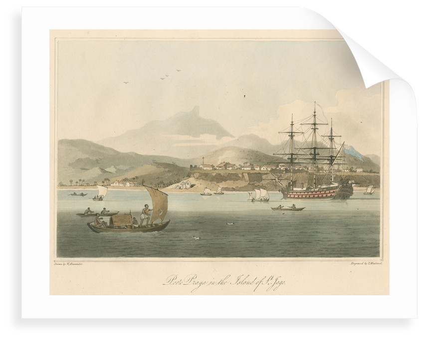 'Porto Praya in the Island of St. Jago' by Thomas Medland