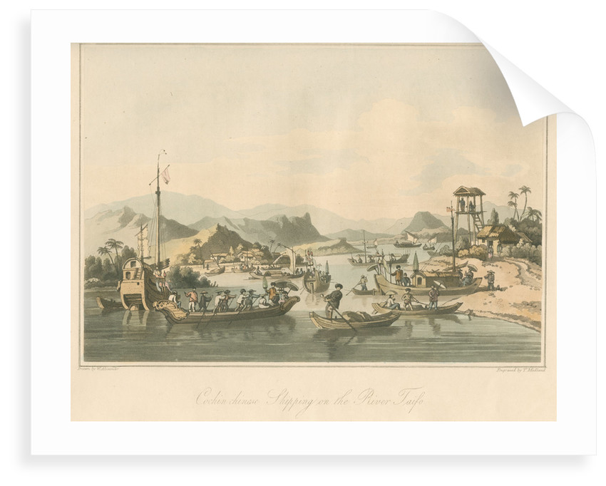 'Cochin chinese Shipping on the River Taifo' by Thomas Medland