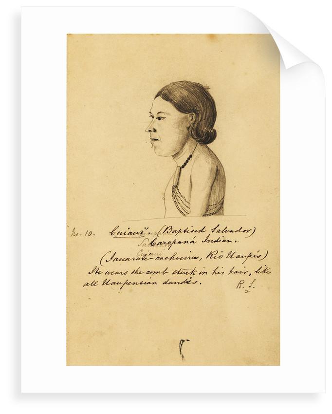 Portrait of Cuiauí by Richard Spruce