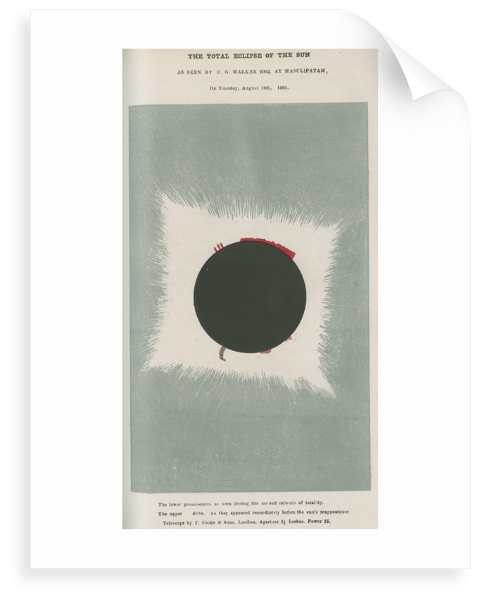 Total eclipse of the Sun by C G Walker