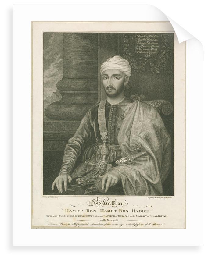 Portrait of Muhammed ibn Haddu (fl. 1680s) by M Tomkins