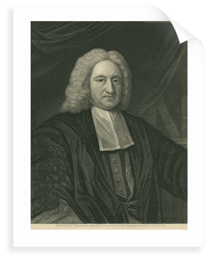 Portrait of Edmond Halley (1656-1742) by William Thomas Fry