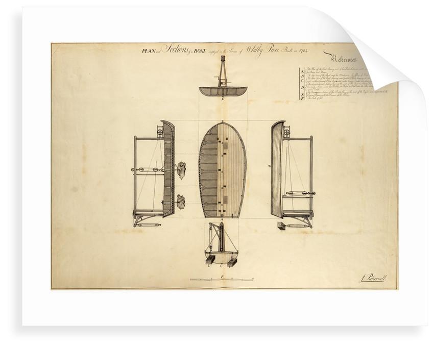 Stone-depositing barge by John Smeaton
