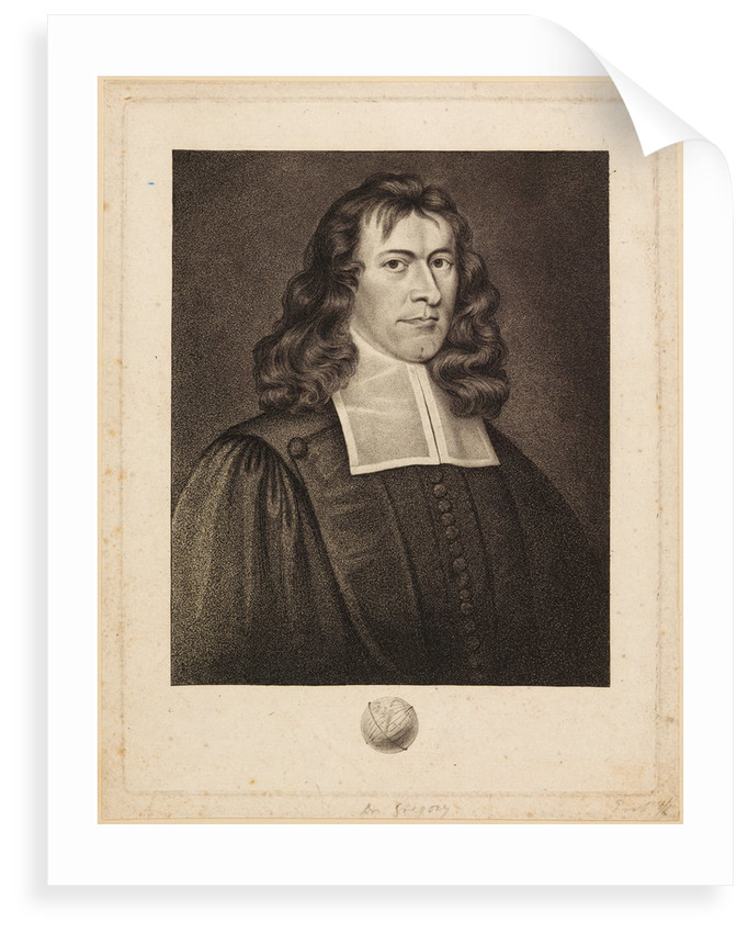 Portrait of James Gregorie by Unknown