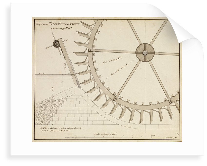 Water mill, Scrooby by John Smeaton