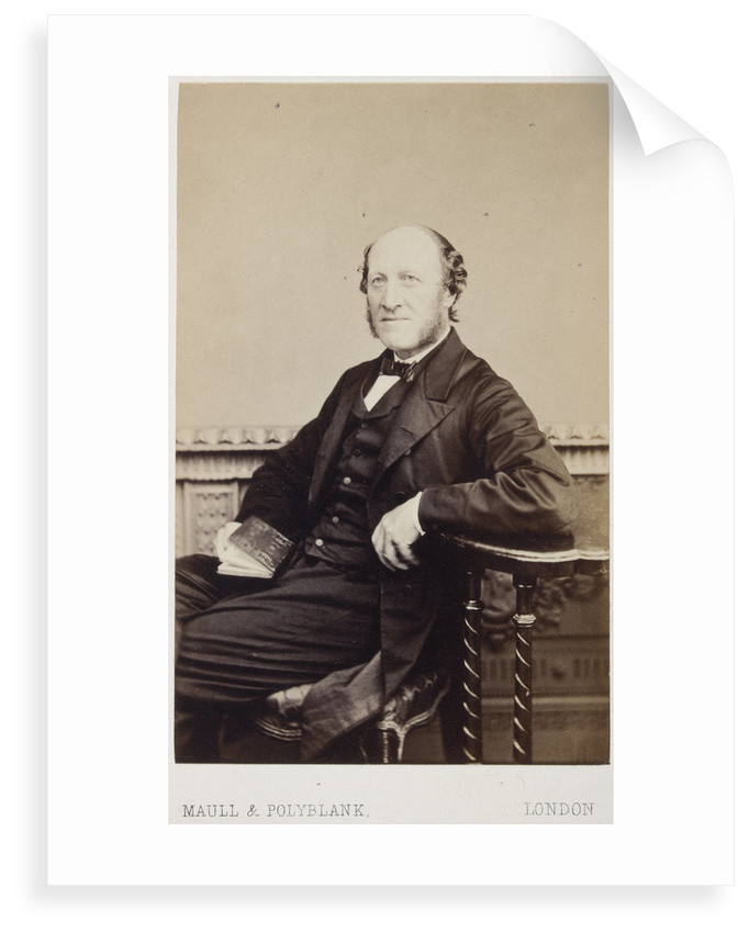 Portrait of Jacob Augustus Lockhart Clarke (1817-1880) by Maull & Polyblank