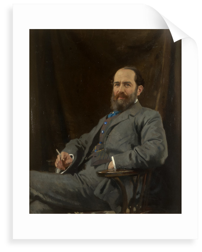 Portrait of Arthur Schuster (1851-1934) by William Orpen