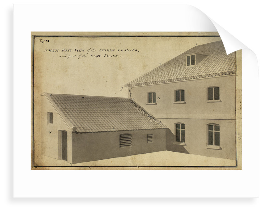 North East view of the Stable Lean-toà [of Heckingham Workhouse, Norfolk] by Anonymous