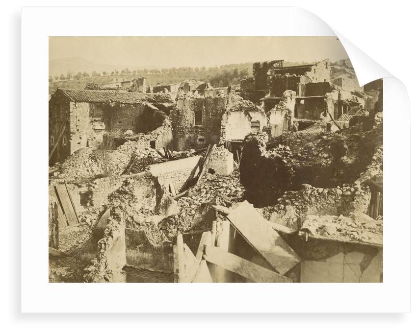 'Pertosa' [earthquake damage] by Alphonse Bernoud Grellier