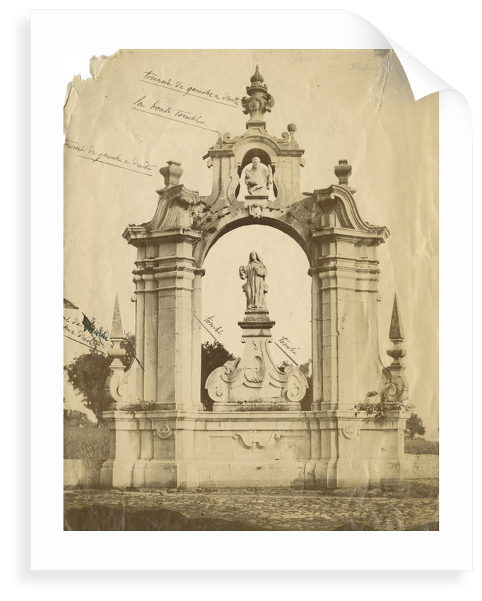 St Bernard's monument, Certosa [earthquake damage] by Alphonse Bernoud Grellier
