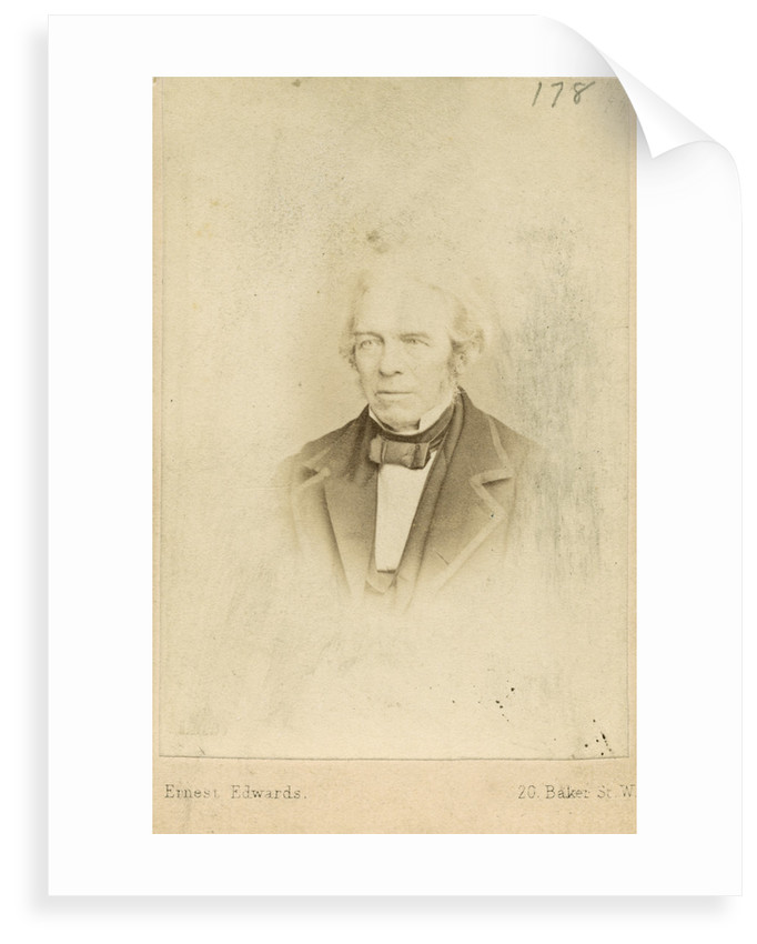 Portrait of Michael Faraday (1791-1867) by Ernest Edwards