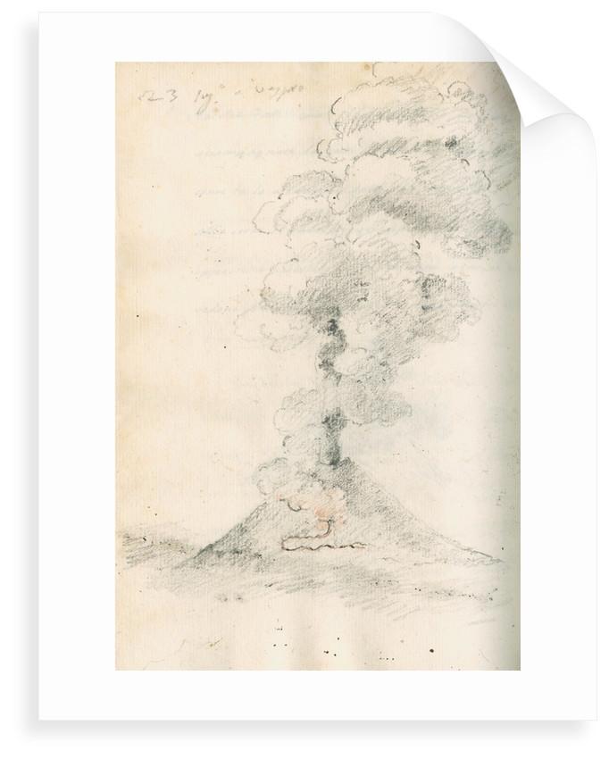 Vesuvius erupting by Antonio Piaggio