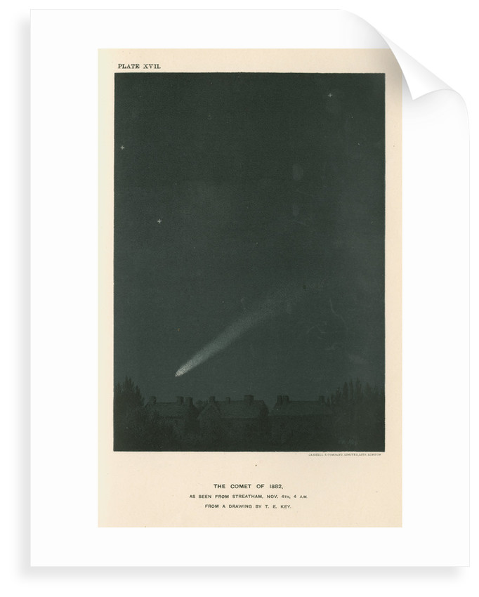 'The comet of 1882 as seen from Streatham' by Cassell & Co