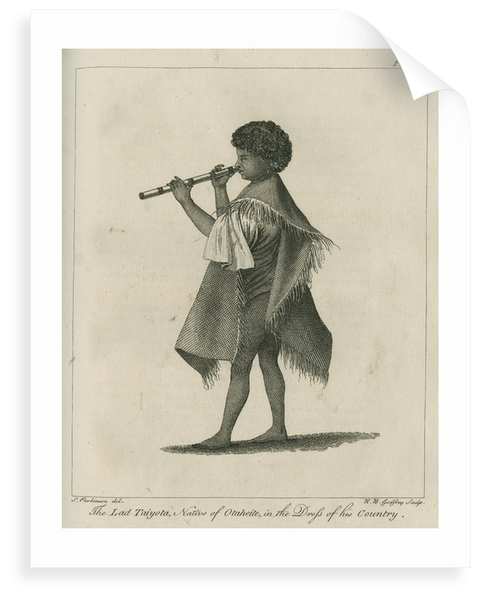 'The Lad Taiyota, Native of Otaheite, in the Dress of his Country' by Richard Bernard Godfrey