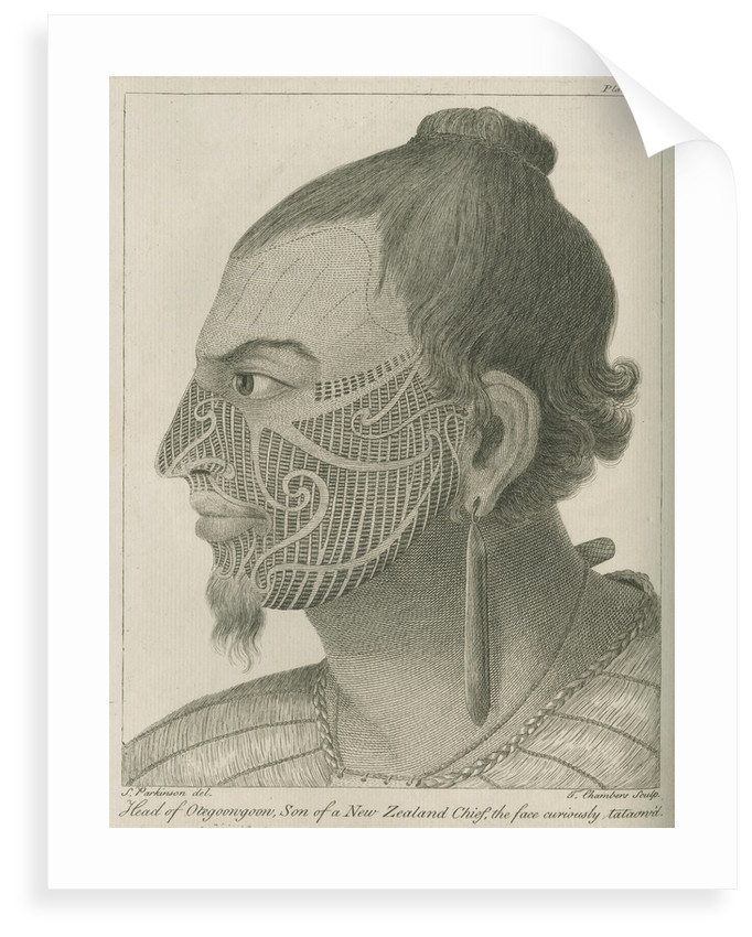 'Head of Otegoowgoow, Son of a New Zealand Chief...' by Thomas Chambers