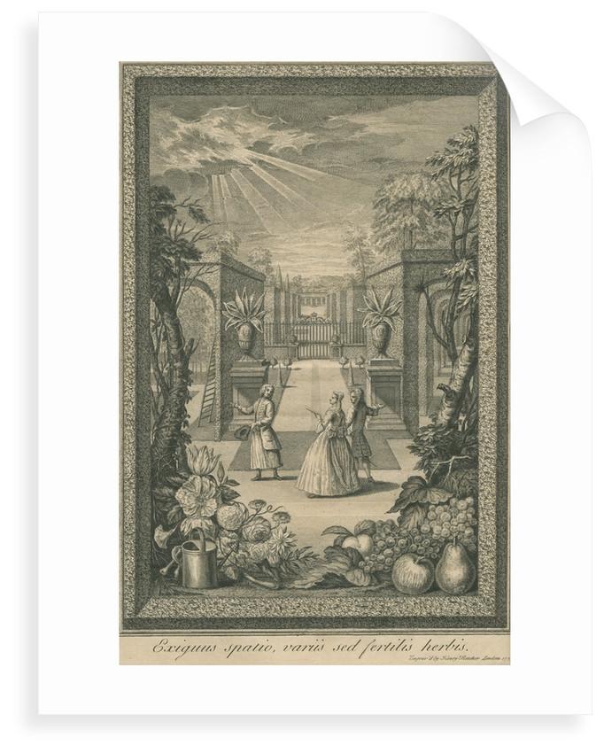 English garden scene by Henry Fletcher