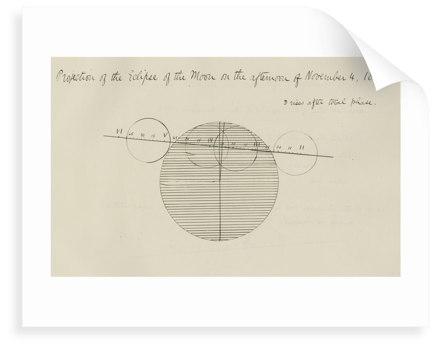 'Projection of the Eclipse of the Moon on the afternoon of November 4, 1892' by Samuel Johnson
